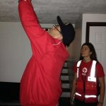 Paulsboro Mayor Stevenson installing smoke alarm 11 7 15